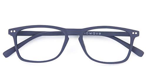 NOWAVE Krippenbrille Lesebrille für PC, Smartphone,TV Beseitigt Müdigkeit und visuelle Reizung. Makulopatische Vorbeugung Antipilling Brille hellblau 40% und UV 100% Tendenz Italia 2016/2017 2.00 blau