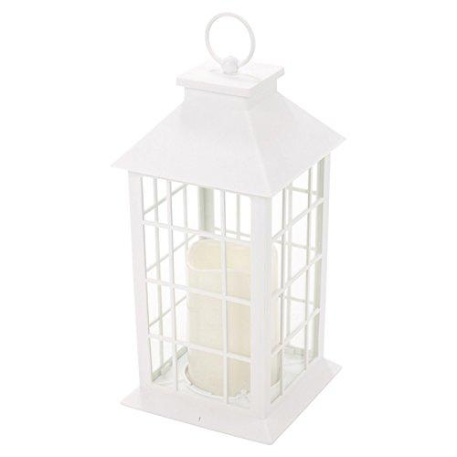 Diamond 28cm farol con vela LED, Blanco, 2