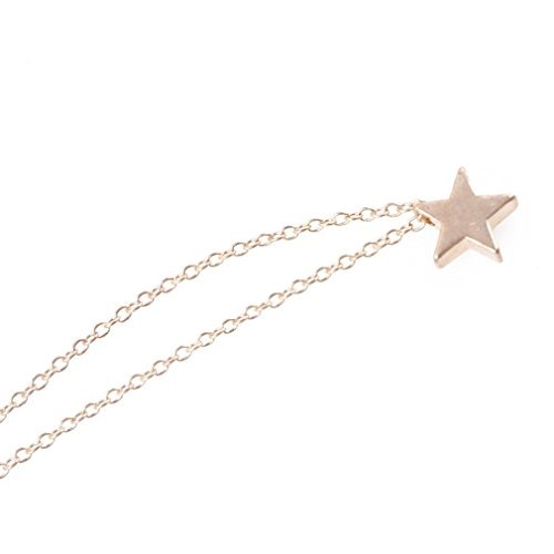 Elistelle Geometric Triangle Star Choker Necklace Jewelry Stainless Steel Golden Necklace Women chocker