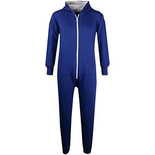 A2Z 4 Kids Unisex Kinder Mädchen Jungen Einfach Farbe - Onesie Royal Blue 9-10 Years (9 Jährige Mädchen Kostüm)