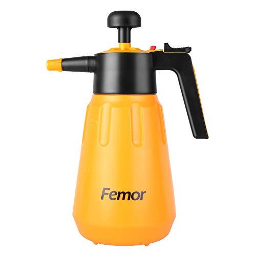femor Drucksprüher Sprühflasche Universal Pump Drucksprüher lösungsmittelfest 1,5L für Haushalt Garten