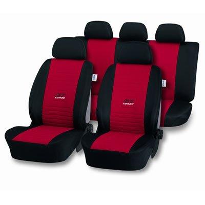 Diana 11391458 Autositzbezüge, Rot Schwarz