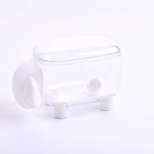 KEZIO Wattestäbchenhalter Sheep Shaped Zahnstocher Cotton Ball Dispenser Organizer Container mit Deckel (Farbe : T1) -