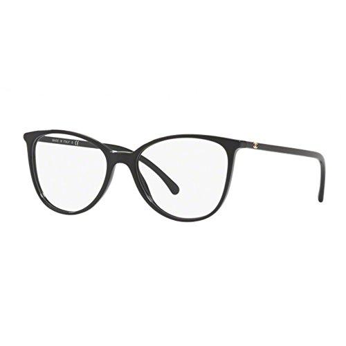 Chanel Damen Brillengestell Schwarz schwarz 52