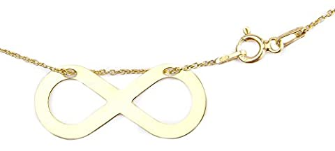 Ah! Jewellery HOT Celebrity Layered Style Infinity Necklace 24K Gold over Sterling Silver. Simple & Stunning! 1.5cm Pendant / 45cm Chain. Stamped 925. 10 Year Guarantee.