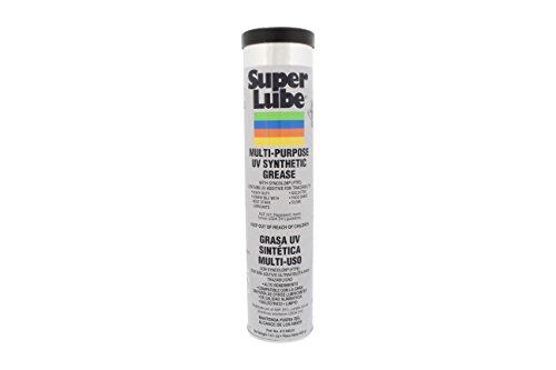Super lubricante sintético 41150/UV UV grasa NLGI 00), 14,1 Oz láser, color blanco translúcido