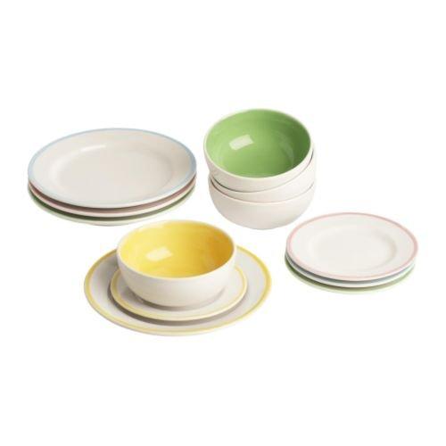 ikea-duktig-childrens-plate-bowl-12-pack