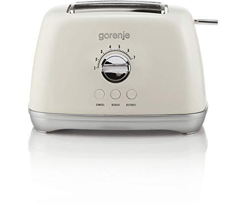 Gorenje T900RL Toaster mit 7 Röstgradstufen - Cremefarben