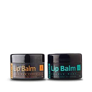 Ustraa Double Mint & Dark Rum Chocolate Lip Balm, 20 g (Pack of 2)