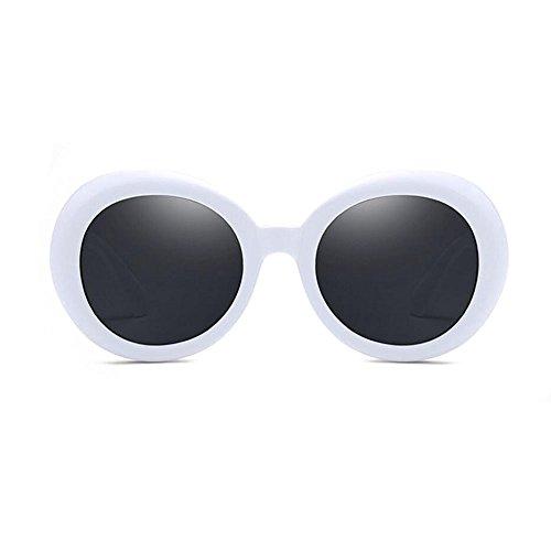 RYRYBH Sonnenbrillen Mode Bikini Schwimmen Uv400 Frauen und Männer Oval Sonnenbrillen Brillengestell Material Kunststoff Sonnenbrillen Sonnenbrille (Farbe : Weiß, größe : One Size)