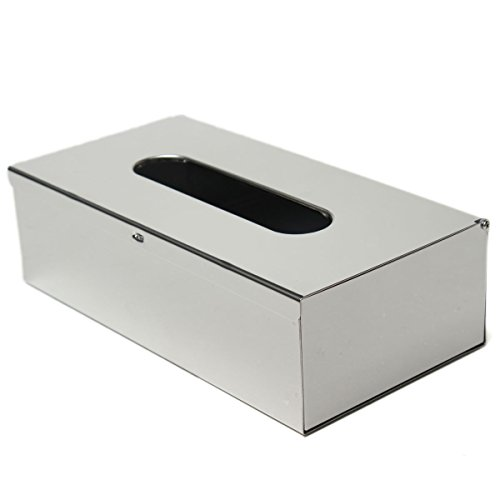 Suitable for Hotel and Guest Houses Silver 15.5cm x13cm x7.5cm KING DO WAY Stainless Steel Tissue Holder Box