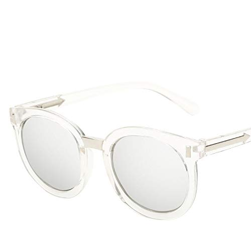YKDDGG Mode-Accessoires Sonnenbrillen Vintage Damen Sonnenbrillen Damen Round Pink Sun Glasses Damen Brillen Feminine11-Transparent.White