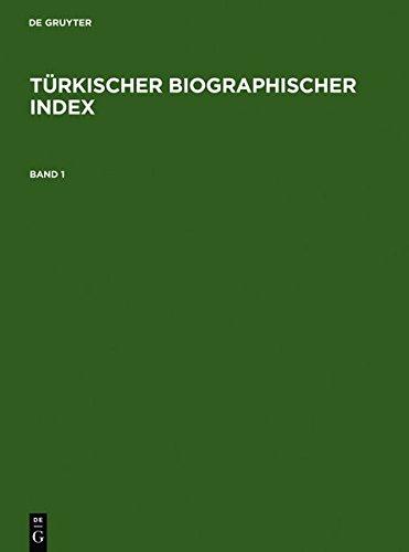 Read Türkischer Biographischer Index / Turkish Biographical Index PDF