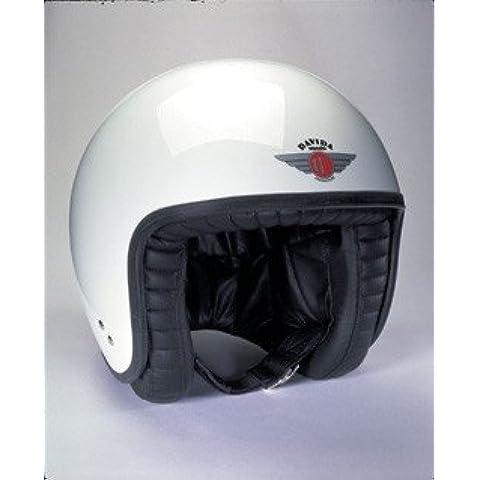 Davida Jet Standard, colore: bianco con visiera Studs, uomo, White, XXL