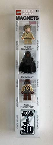 LEGO Star Wars Anakin Skywalker, Darth Maul, Naboo Fighter Pilot Magnet Figuren Set: Anno 2007 -