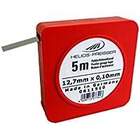 HELIOS-PREISSER Fühlerlehrenband 5 m x 13 mm, inklusive Plastikdose 0,10 mm, 0611510