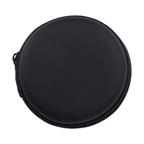 Colorful Tragetasche für Ohrhörer, kopfhörer Tasche Schutztasche Mini Zipper Praktische Tragetasche für In-Ear Kopfhörer Ohrhörer SD-Karte (Schwarz) - 3