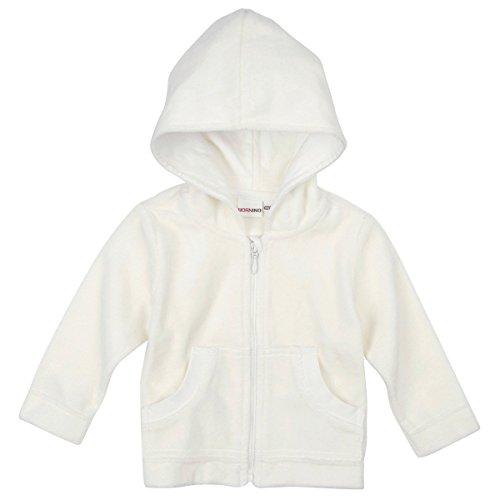 BORNINO Nickijacke mit Kapuze Baby-Jacke Babykleidung, Größe 50/56, weiß