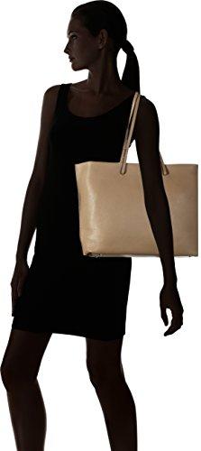 Coccinelle Damen Delphine Henkeltasche, 12x30x38 cm Mehrfarbig (Taupe/Fraise)