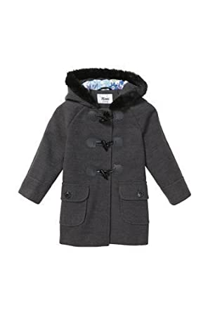 AW13* Mimi Kids Girls Cute Winter Faux Fur Trim Hooded Duffle Coat ...