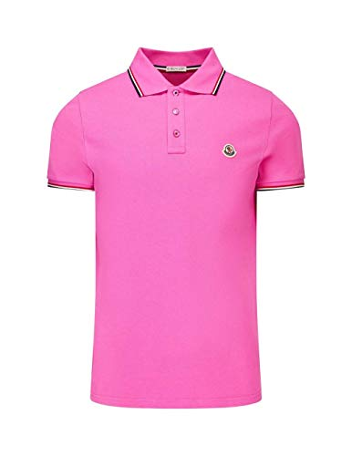 99a047550 Moncler Men's 834560084556530 Pink Cotton Polo Shirt