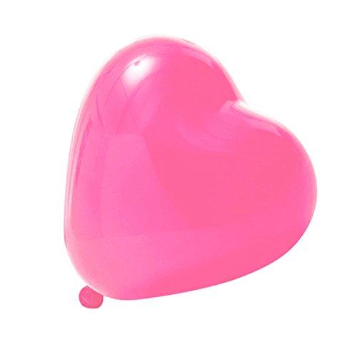 Logei® 100 pezzi pallonici a forma di cuore, pallonicini di cuore, palloncini della decorazione per san valentino, fidanzamento, matrimonio, colore rosa