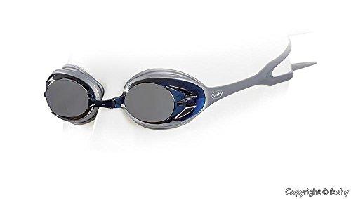 fashy - POWER MIRROR Schwimmbrille, Tauchbrille verspiegelt mit Antifog und UV-Schutz silber -...