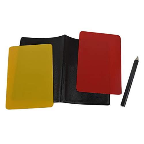 Peanutaoc Fußball Schiedsrichterkarten Volleyball Fußball Sport Geldbörse Notizbuch Bleistift-Set