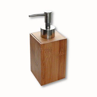 Lifetime Clean - Dispensador de jabón 871125248428, de bambú, 6,5x 6,5x 17cm
