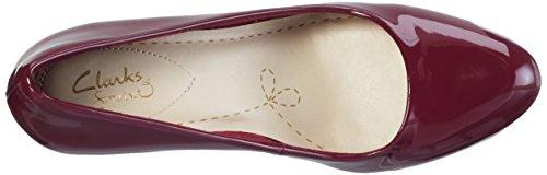 Clarks Carlita Cove, Scarpe con Tacco Donna, Beige, Various Viola (Plum Patent)