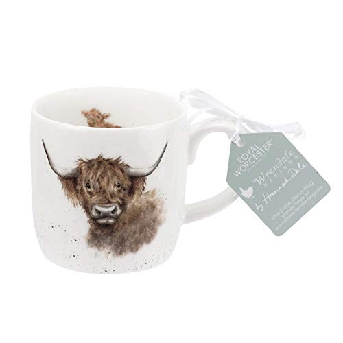 Royal Worcester MMMT5629-XSM Wrendale Highland Cow Becher, mehrfarbig