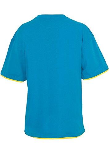 Urban Classics Bekleidung Contrast Tall Tee, T-Shirt Uomo Turchese (Türkis/Yellow)