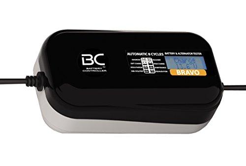 BC BRAVO 2000 - 12V 2A - Caricabatteria e tester digitale a 8 cicli di carica per tutte le batterie 12V al piombo-acido di auto e moto