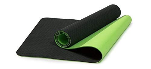 B Fit TPE Yoga Mat - Classic 6 MM Pro Yoga Mat Eco Friendly Non Slip Fitness Exercise Mat with Smart Carry Bag-Workout Mat for Yoga, Pilates and Floor Exercises (Green)