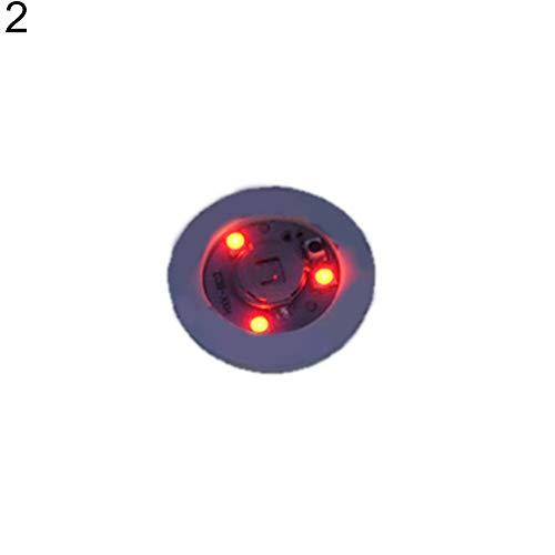 FeiyanfyQ Mode Dessous de Verre Décor Lumineux Bouteille lumière LED de Football Autocollant Tapis de Bar Club fête Dessous de Verre Décor Red