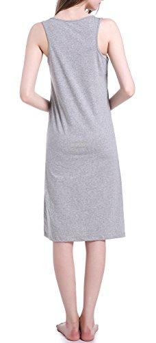 Chamllymers Damen Nachthemd Grau