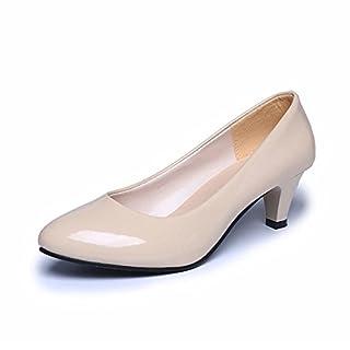 Clearance Sale!OverDose Women Nude Office Work Heels Shoes Elegant Ladies Low Heel