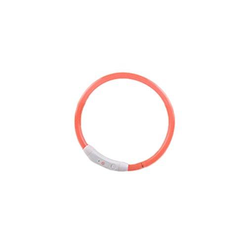 Hmeng LED Hundehalsband, Hunde Katze Welpen USB Wasserdichte LED Haustier Kragen Wiederaufladbare Blinklicht Band Sicherheit Verstellbar Haustier Hundehalsband (70cm, ()