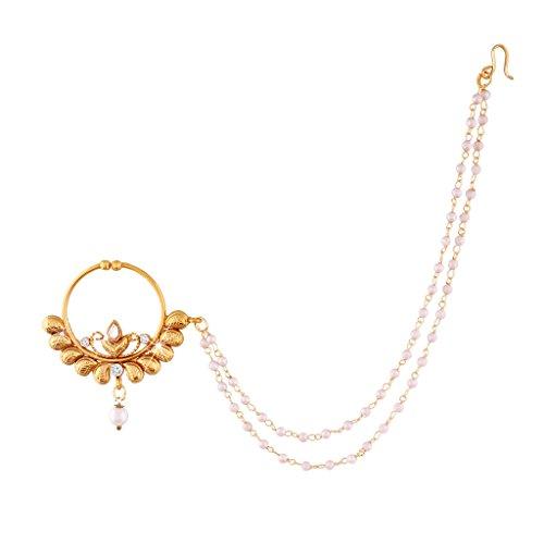 I Jewels, NL03, falscher Nasenring mit Kette, für Damen, (kein echtes Piercing)