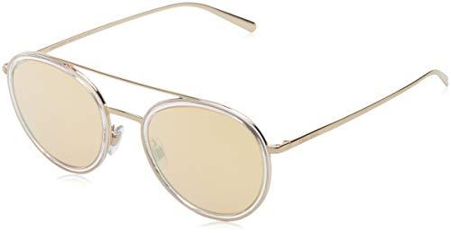 Armani Damen 0AR6051 30137J 51 Sonnenbrille, Pale Gold/Crystal/Orangemirrorpink