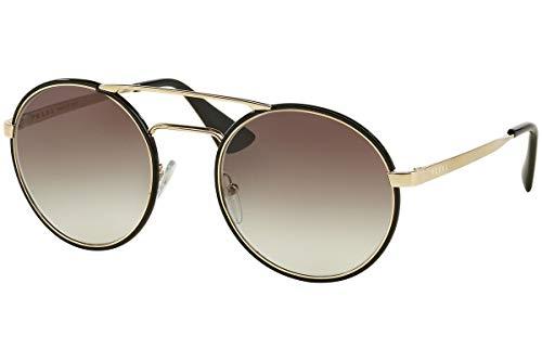 Prada PR51SS Cinema Sonnenbrille Schwarz Pale Gold Mit Grauem Verlaufsglas Gläsern 1AB0A7 SPR 51S
