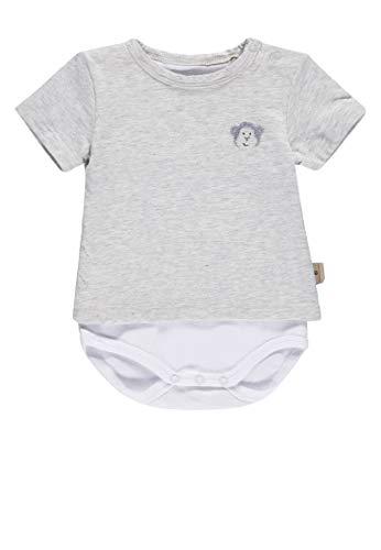 Bellybutton mother nature & me Baby-Jungen 1/4 Arm Formender Body, Grau (Recycle Gray 8377), (Herstellergröße: 68) -