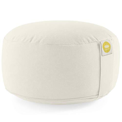 Image of Lotuscrafts Yogakissen Meditationskissen Rund Lotus - Sitzhöhe 15cm - Waschbarer Bezug aus Baumwolle - Yoga Sitzkissen mit Dinkelfüllung - GOTS Zertifiziert