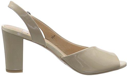Caprice 28311, Sandales Bride arrière femme Beige (sand Patent 302)