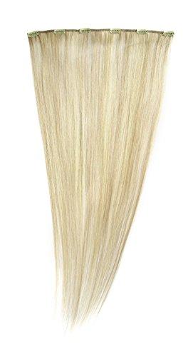 American Dream - A1/QFC12/24/22/25 - 100 % Cheveux Naturels - Barrette Unique Extensions à Clipper - Couleur 22/25 - Blond Plage / Blond Léger - 61 cm