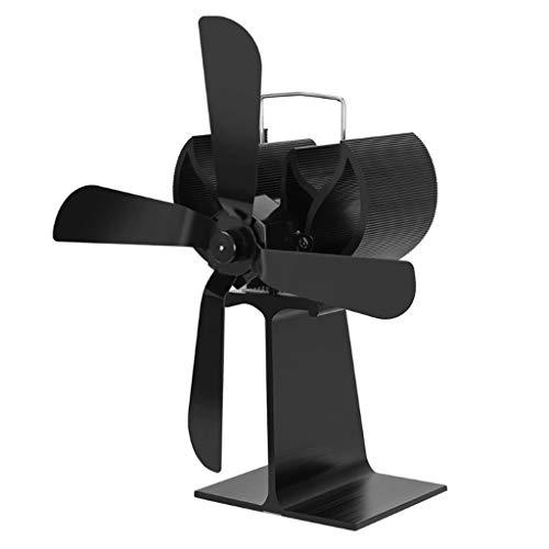 DYW-Fireplace Fans Kamin Ventilator Holzofen heate Fan Herd Log Kamin Feuer Hitze Powered Thermo Fan Ultra-Quiet 4 Blades Ventilator für Holzöfen