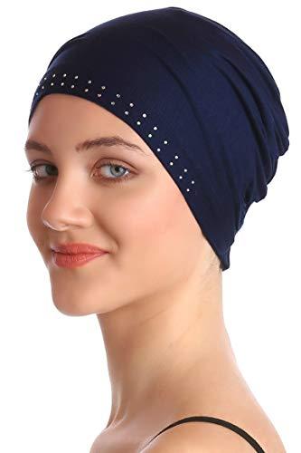 Deresina Headwear Wesentliche Baumwollkappe mit Steinen (Marina)
