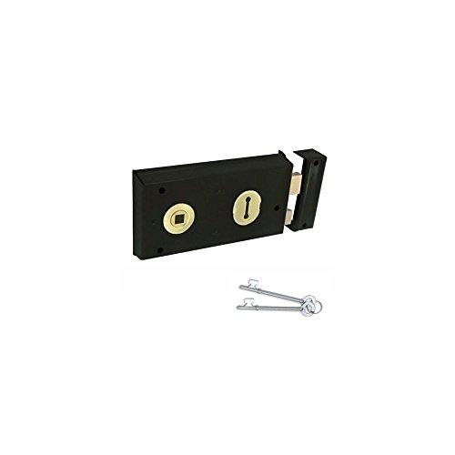 Yale Locks P401 Visi Serrure à palastre Noir 138 x 76 mm