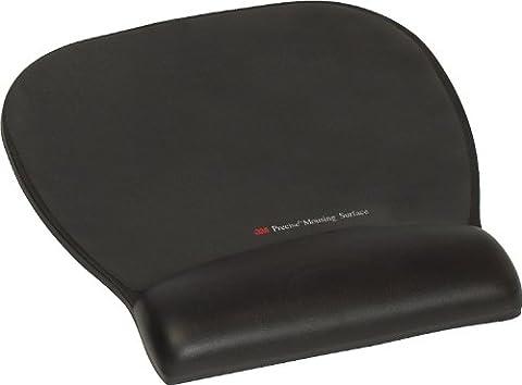 3M Precise(TM) Mousing Surface & Gel Wrist Rest - Black Leatherette - 8.7x9.2x0.8