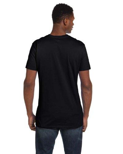 Hanes Mens Nano-T Cotton T-Shirt Black